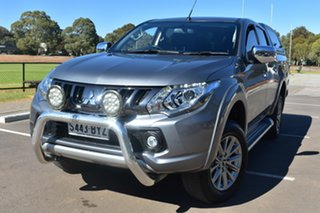 2018 Mitsubishi Triton MQ MY18 GLS Double Cab Grey 6 Speed Manual Utility.