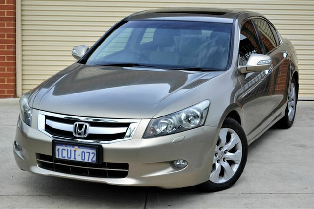 Used Honda Accord 8th Gen V6 Luxury Mount Lawley, 2008 Honda Accord 8th Gen V6 Luxury Brown 5 Speed Sports Automatic Sedan