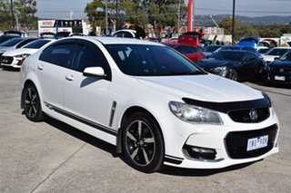 2017 Holden Commodore VF II MY17 SV6 White 6 Speed Sports Automatic Sedan.