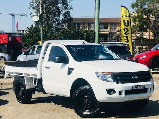 Used Ford Ranger PX XL Liverpool, 2014 Ford Ranger PX XL White 6 Speed Manual Cab Chassis