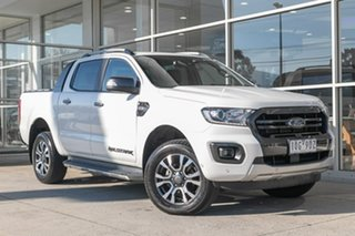 2019 Ford Ranger PX MkIII 2019.00MY Wildtrak White 6 Speed Manual Double Cab Pick Up.