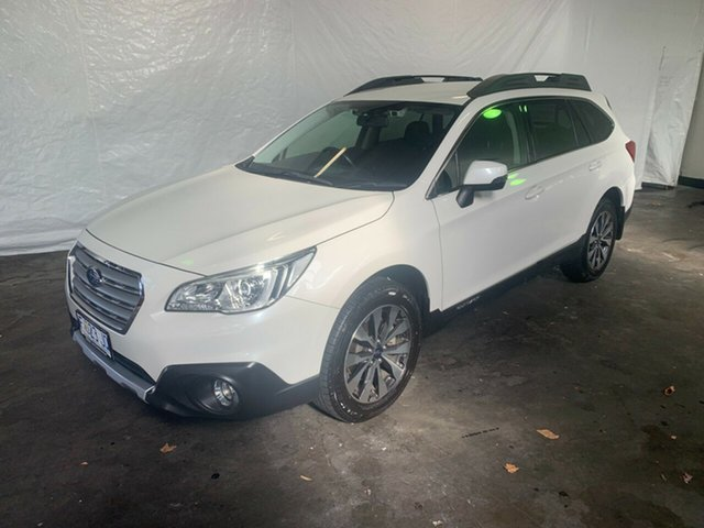 Used Subaru Outback B6A MY16 2.5i CVT AWD Launceston, 2016 Subaru Outback B6A MY16 2.5i CVT AWD White 6 Speed Constant Variable Wagon