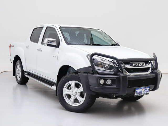 Used Isuzu D-MAX TF MY17 LS-U HI-Ride (4x4), 2017 Isuzu D-MAX TF MY17 LS-U HI-Ride (4x4) White 6 Speed Automatic Crew Cab Utility