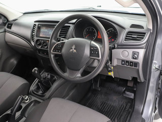 2016 Mitsubishi Triton MQ MY17 GLX (4x4) Grey 6 Speed Manual Dual Cab Chassis