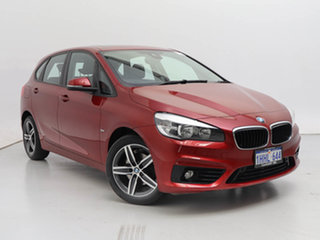 2015 BMW 218d F45 Active Tourer Sport Line Red 8 Speed Automatic Wagon.
