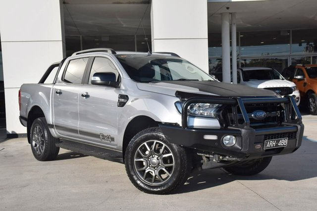 Used Ford Ranger PX MkII FX4 Double Cab Oakleigh, 2017 Ford Ranger PX MkII FX4 Double Cab Silver 6 Speed Sports Automatic Utility