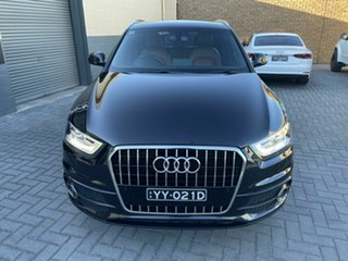 2012 Audi Q3 8U MY13 TFSI S Tronic Quattro Black 7 Speed Sports Automatic Dual Clutch Wagon.