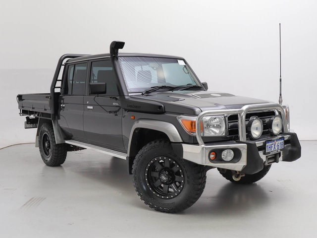 Used Toyota Landcruiser VDJ79R MY12 Update GXL (4x4), 2014 Toyota Landcruiser VDJ79R MY12 Update GXL (4x4) Grey 5 Speed Manual Double Cab Chassis
