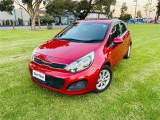 2013 Kia Rio UB MY13 S Red 4 Speed Automatic Hatchback