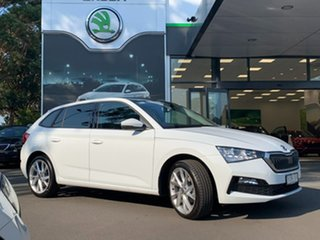 2021 Skoda Scala NW MY21 110TSI DSG White 7 Speed Sports Automatic Dual Clutch Hatchback.