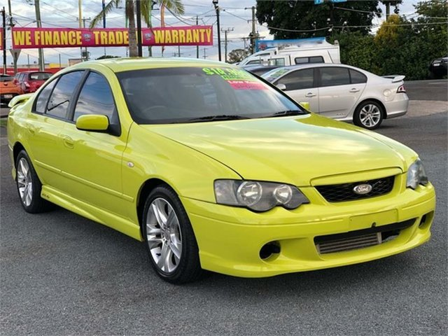 Used Ford Falcon BA XR6 Turbo Archerfield, 2003 Ford Falcon BA XR6 Turbo Green/ Yellow 4 Speed Sports Automatic Sedan