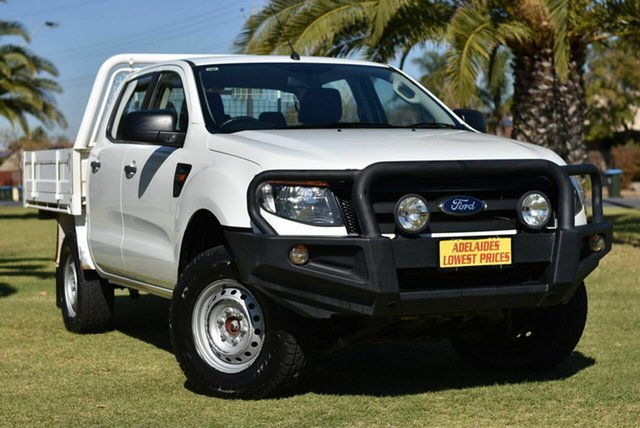Used Ford Ranger PX XL Cheltenham, 2014 Ford Ranger PX XL White 6 Speed Manual Cab Chassis