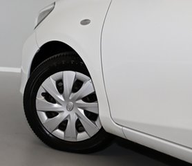 2012 Toyota Yaris NCP131R YRS White 4 Speed Automatic Hatchback
