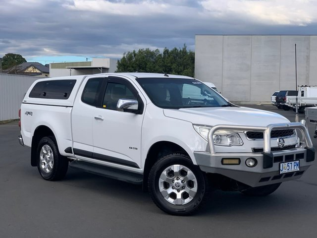 Used Holden Colorado RG MY13 LTZ Space Cab Moonah, 2012 Holden Colorado RG MY13 LTZ Space Cab White 6 Speed Sports Automatic Utility