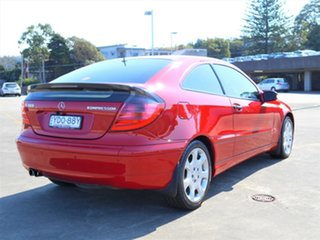 2004 Mercedes-Benz C-Class CL203 MY2003 C180 Kompressor Sports Red 5 Speed Automatic Coupe