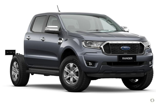 New Ford Ranger PX MkIII 2021.25MY XLT Double Cab Oakleigh, 2021 Ford Ranger PX MkIII 2021.25MY XLT Double Cab Grey 6 Speed Sports Automatic Double Cab Chassis