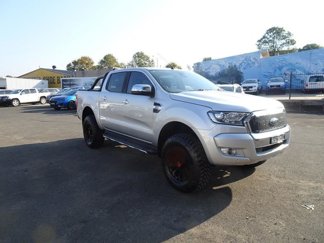 Used Ford Ranger PX MkII XLT Double Cab Nowra, 2017 Ford Ranger PX MkII XLT Double Cab Ingot Silver 6 Speed Automatic Utility