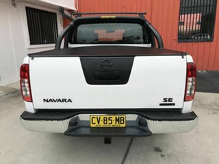 2015 Nissan Navara D40 S9 Silverline SE White 5 Speed Automatic Utility