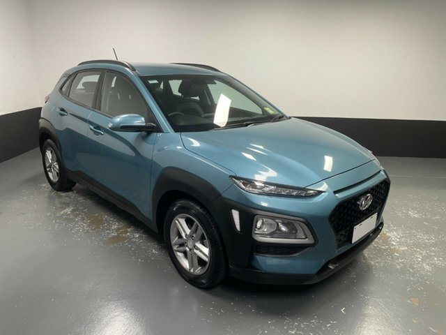 Used Hyundai Kona OS MY18 Active 2WD Hamilton, 2018 Hyundai Kona OS MY18 Active 2WD Ceramic Blue 6 Speed Sports Automatic Wagon