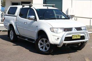2014 Mitsubishi Triton MN MY15 GLX-R Double Cab White 5 Speed Sports Automatic Utility.