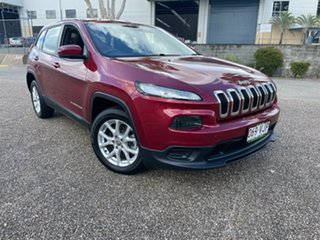 2014 Jeep Cherokee KL Sport (4x2) Red 9 Speed Automatic Wagon.