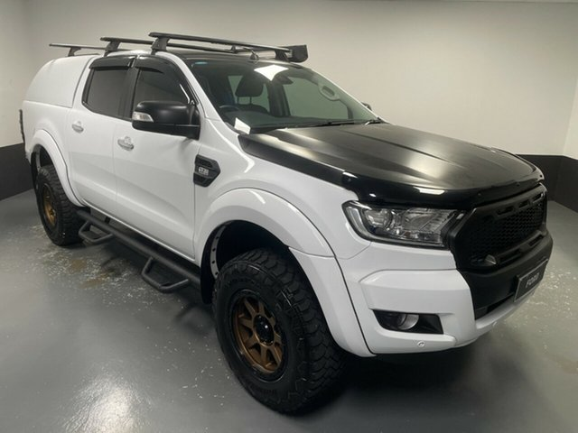 Used Ford Ranger PX MkII 2018.00MY XLT Double Cab Hamilton, 2018 Ford Ranger PX MkII 2018.00MY XLT Double Cab Frozen White 6 Speed Sports Automatic Utility
