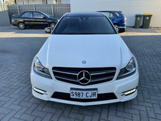 2012 Mercedes-Benz C-Class C204 C250 BlueEFFICIENCY 7G-Tronic + White 7 Speed Sports Automatic Coupe.