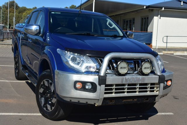 Used Mitsubishi Triton MQ MY16 Exceed Double Cab St Marys, 2015 Mitsubishi Triton MQ MY16 Exceed Double Cab Blue 5 Speed Sports Automatic Utility