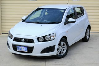 2014 Holden Barina TM MY14 CD White 5 Speed Manual Hatchback.