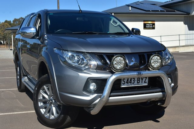Used Mitsubishi Triton MQ MY18 GLS Double Cab St Marys, 2018 Mitsubishi Triton MQ MY18 GLS Double Cab Grey 6 Speed Manual Utility