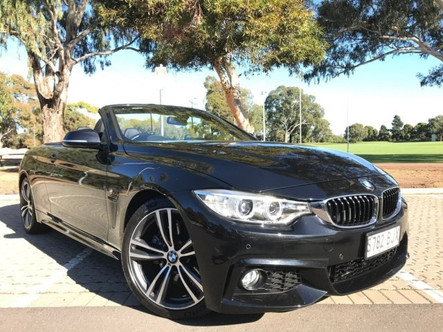 Used BMW 4 Series F33 428i M Sport Adelaide, 2016 BMW 4 Series F33 428i M Sport Black 8 Speed Sports Automatic Convertible