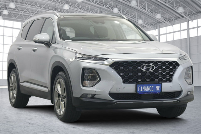 Used Hyundai Santa Fe TM MY19 Highlander Victoria Park, 2019 Hyundai Santa Fe TM MY19 Highlander Typhoon Silver 8 Speed Sports Automatic Wagon
