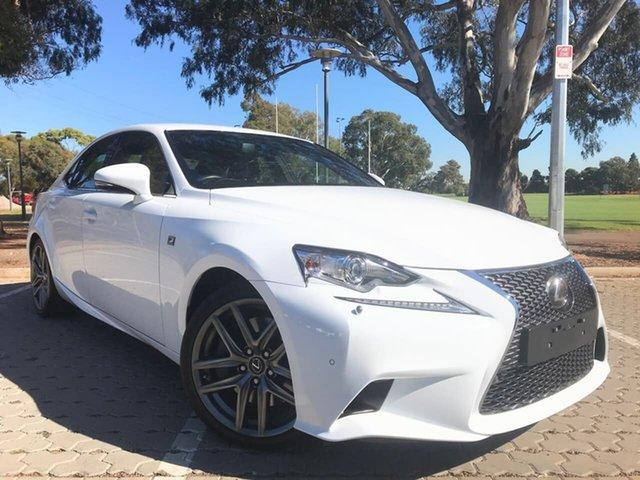 Used Lexus IS GSE31R IS350 F Sport Adelaide, 2016 Lexus IS GSE31R IS350 F Sport White 8 Speed Sports Automatic Sedan