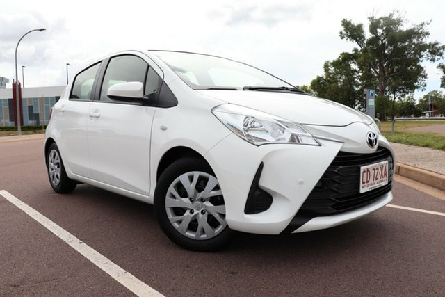 Pre-Owned Toyota Yaris NCP130R Ascent Palmerston, 2019 Toyota Yaris NCP130R Ascent Glacier White 5 Speed Manual Hatchback