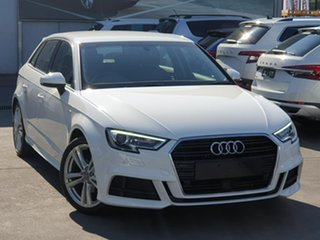 2020 Audi A3 8V MY20 35 TFSI S Tronic White 7 Speed Sports Automatic Dual Clutch Sedan.