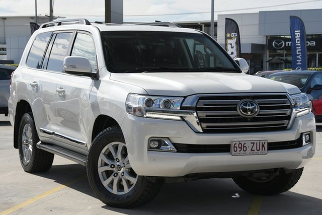 Used Toyota Landcruiser VDJ200R Sahara Aspley, 2016 Toyota Landcruiser VDJ200R Sahara White 6 Speed Sports Automatic Wagon