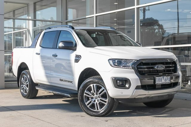 Used Ford Ranger PX MkIII 2020.75MY Wildtrak Ferntree Gully, 2020 Ford Ranger PX MkIII 2020.75MY Wildtrak White 10 Speed Sports Automatic Double Cab Pick Up