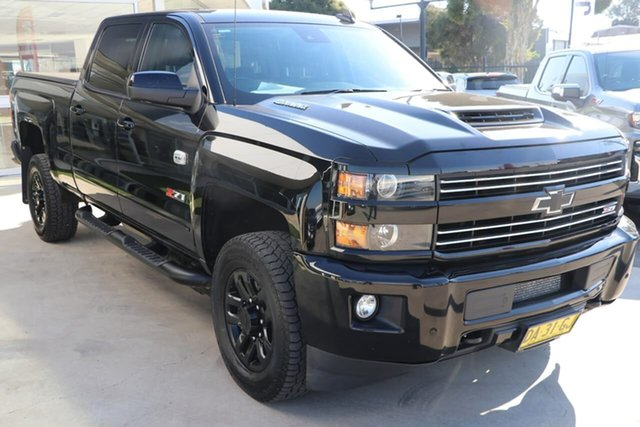 Used Chevrolet Silverado C/K25 2500HD Pickup Crew Cab LTZ Midnight Edition Wagga Wagga, 2018 Chevrolet Silverado C/K25 2500HD Pickup Crew Cab LTZ Midnight Edition Black 6 Speed Automatic