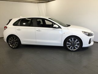 2017 Hyundai i30 PD MY18 SR D-CT White 7 Speed Sports Automatic Dual Clutch Hatchback