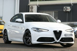 2018 Alfa Romeo Giulia Veloce White 8 Speed Sports Automatic Sedan.