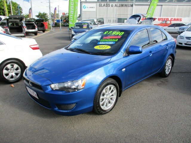 Used Mitsubishi Lancer SX Woodridge, 2011 Mitsubishi Lancer SX Blue 5 Speed Manual Sedan