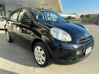 2011 Nissan Micra K13 ST-L Black 4 Speed Automatic Hatchback.
