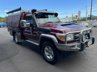 2014 Toyota Landcruiser VDJ79R MY13 GXL Merlot Red 5 Speed Manual Cab Chassis