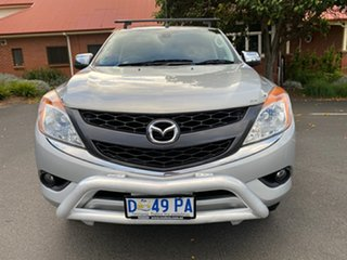 2013 Mazda BT-50 UP0YF1 XT Silver 6 Speed Manual Cab Chassis