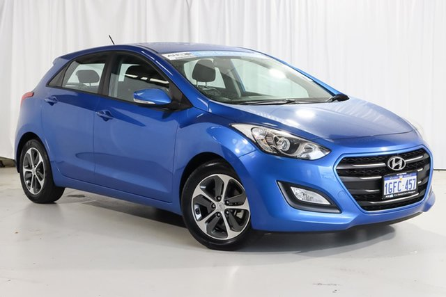 Used Hyundai i30 GD4 Series II MY17 Active X Wangara, 2017 Hyundai i30 GD4 Series II MY17 Active X Blue 6 Speed Sports Automatic Hatchback