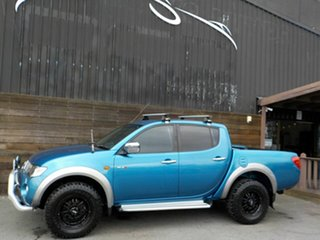 2009 Mitsubishi Triton ML MY09 GLX-R Double Cab Blue 4 Speed Automatic Utility