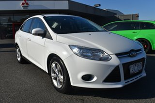 2014 Ford Focus LW MkII Trend PwrShift White 6 Speed Sports Automatic Dual Clutch Sedan.