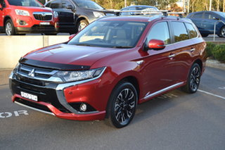 2018 Mitsubishi Outlander ZK MY18 PHEV AWD Exceed Burgundy 1 Speed Automatic Wagon Hybrid