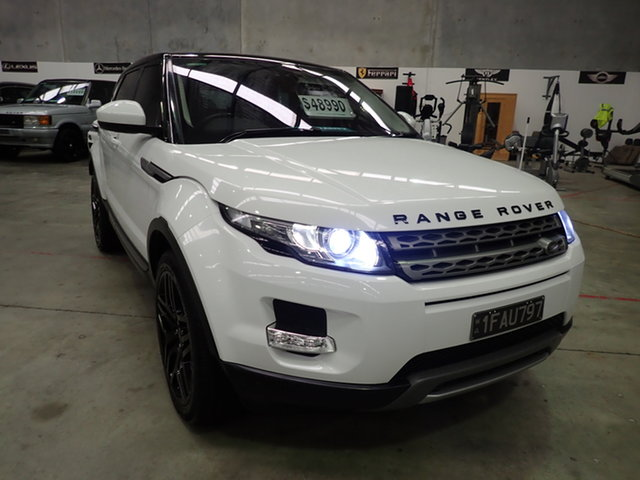 Used Land Rover Evoque LV MY14 SD4 Pure Wangara, 2014 Land Rover Evoque LV MY14 SD4 Pure Atlas White & Black Roof 9 Speed Automatic Wagon