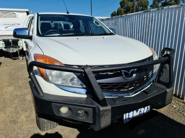 Used Mazda BT-50 UP0YF1 GT Epsom, 2014 Mazda BT-50 UP0YF1 GT Cool White 6 Speed Sports Automatic Utility